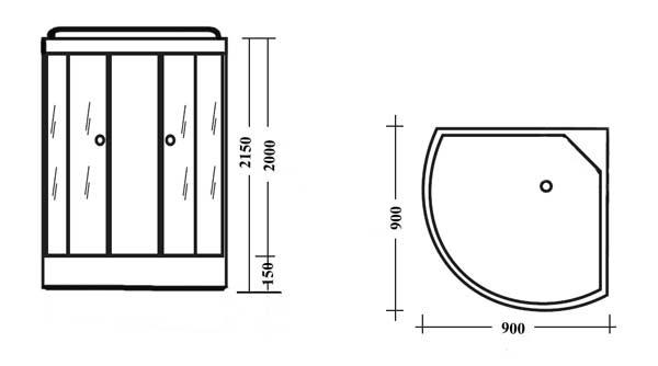 Рис. 2 Схема гидробокса
